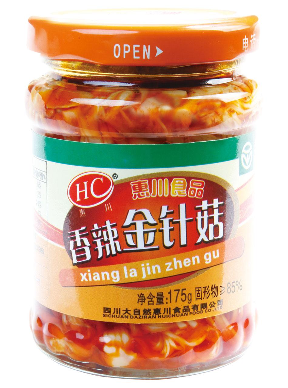 惠川食品175克香辣金针菇