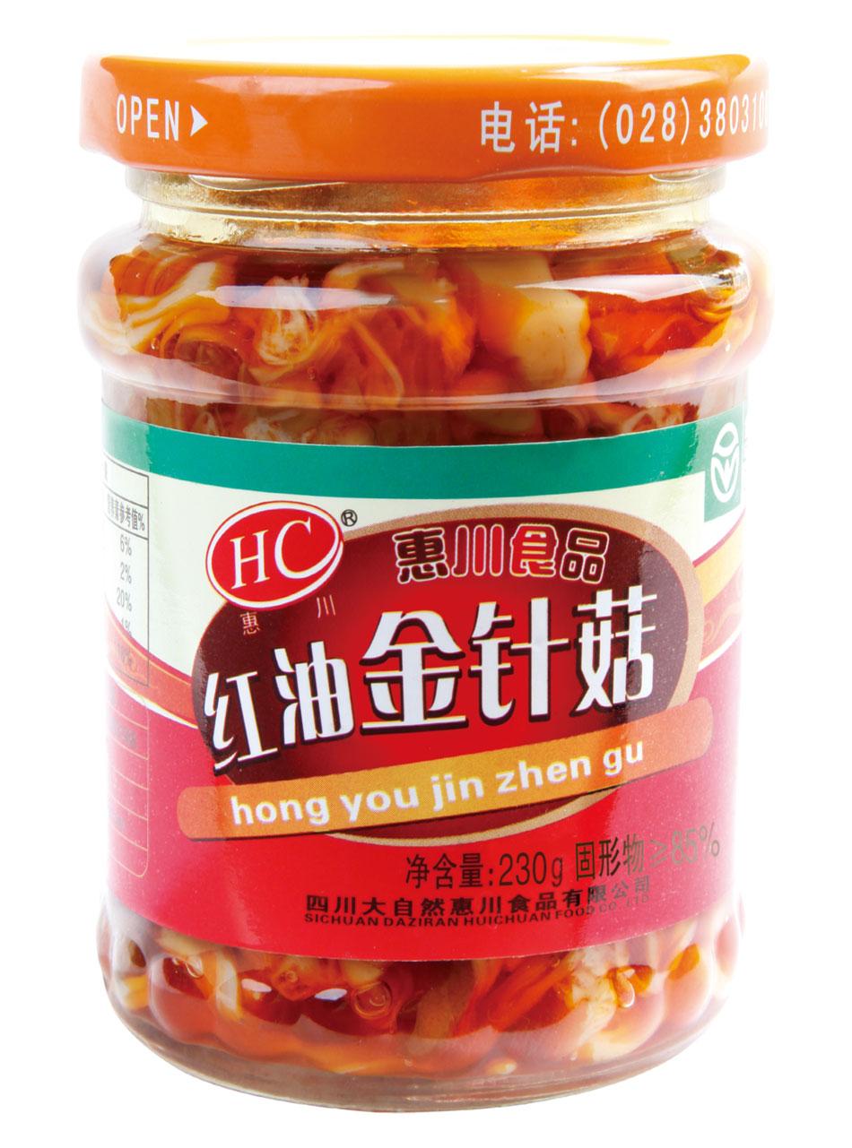 惠川食品230克红油金针菇