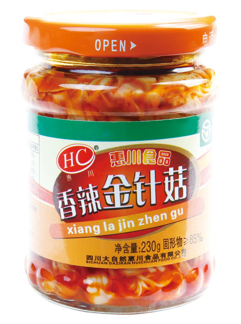 惠川食品230克香辣金针菇