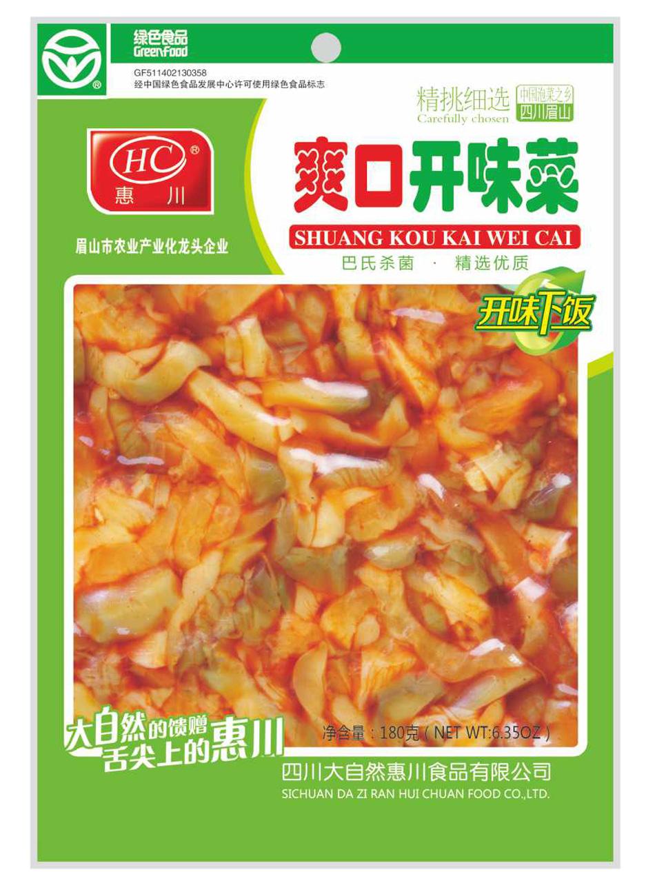 惠川食品180克爽口开味菜