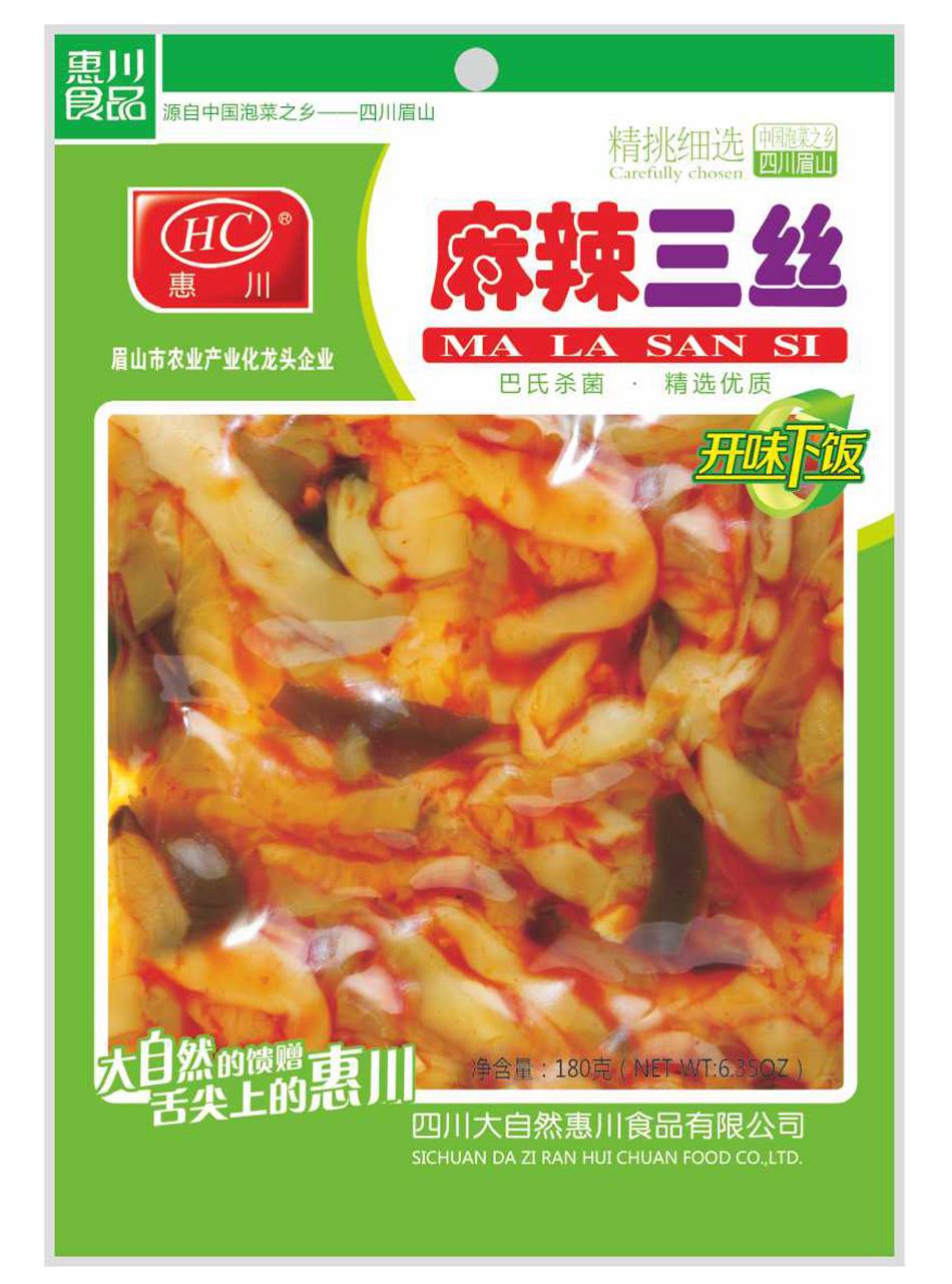惠川食品180克麻辣三丝